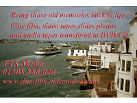 Cine film,audio tapes,video tapes transferred to DVD