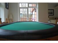 Poker Table Top - Solid wooden quality 7ft poker table.