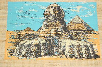 Ägypten Papyrus-Bild 30 x 40 cm - SPHINX