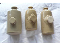 Old stone hot water bottles