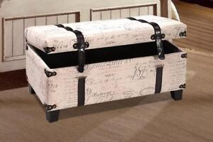 French Fabric Storage Bench - IF-645 in Toronto Furniture Sale (BD-1464)
