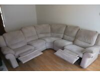 Fabric recliner CORNER SOFA