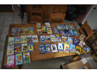 Miscellaneous kids VHS tapes for sale - 48 individual incl. Disney classics, Bob the Builder etc