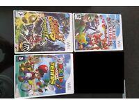 Nintendo Wii Mario Games Bundle Includes; Wii Super Smash Bros Brawl