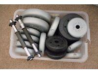 44KG mixed Vinyl Weight Plates