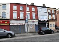 125a Oakfield Rd, Anfield, Liverpool. 2 bed flat above retail premises with GCH & DG. LHA welcome