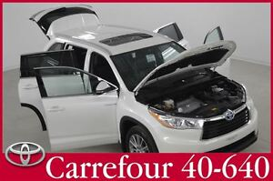 2015 Toyota Highlander Hybrid XLE 4WDi GPS+Cuir+Toit Pano 8 Pass