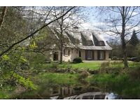 PONTIVY, Brittany, FRANCE - large countryside property, with small lake and land 5 mins to PONTIVY