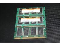 3 x 256 MB DDR RAM für Laptops PC 2700 333 Mhz Nordrhein-Westfalen - Würselen Vorschau
