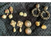 Gorgeous vintage clip-on earrings, £4