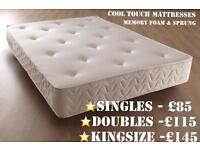 LUXURY MEMORY FOAM & SPRUNG MATTRESSES - SINGLE - DOUBLE - KINGSIZE