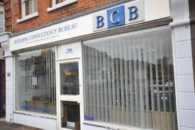 Compact ground floor office (24m2) with generous shop frontage on main Wimborne Road MOORDOWN