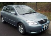 T-Z CARS PRESENT A 2002 TOYOTA COROLLA 1.6 VVTI AUTO 5DR HATCHBACK PX TO CLEAR