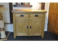 Original Rustic Solid Oak Sideboard - Oak Furniture Land