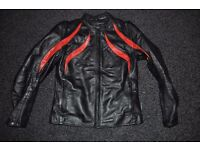 Brixton Leather Motorcycle Jacket with build in protection for back, elbow & shoulder - Womans