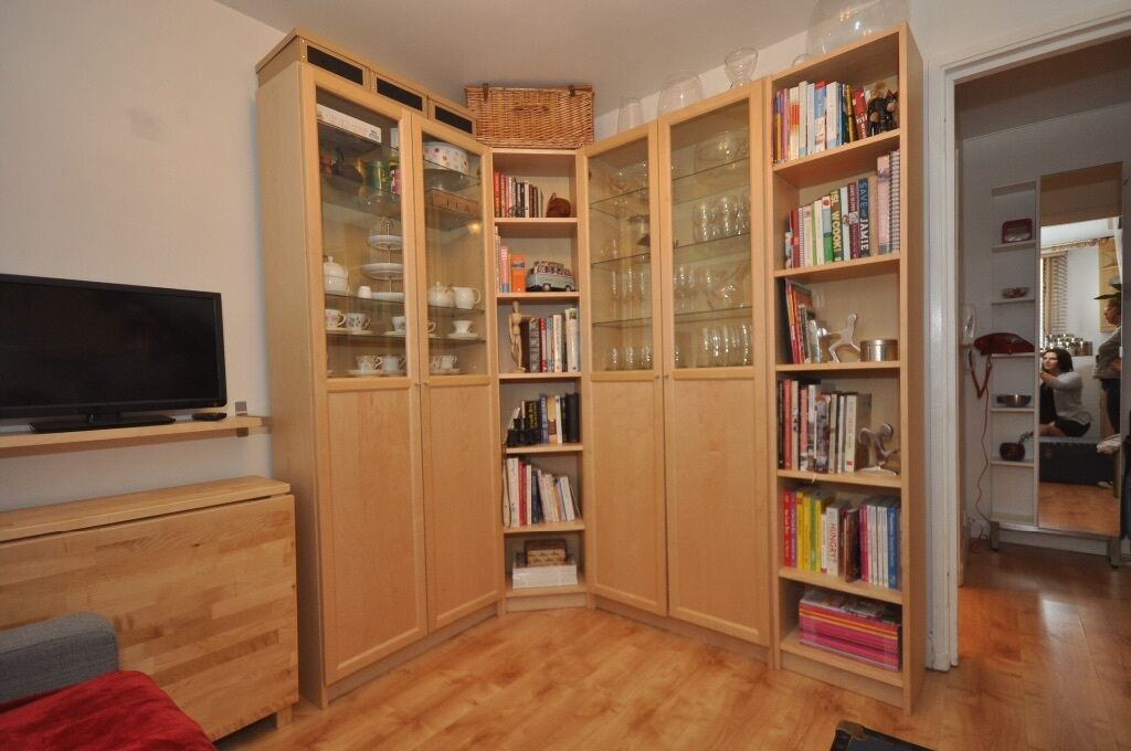 ikea billy oxberg bookcases in egham surrey gumtree. Black Bedroom Furniture Sets. Home Design Ideas