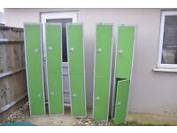 LOCKERS - 5 Elite Two Door Lockers In GREEN