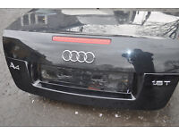 AUDI A4 2008 CABRIOLET REAR BOOT LID WITH STOP LIGHT