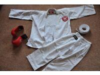 Blitz Karate suits - 3 sizes (130, 140, 150) plus medium gloves