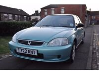 HONDA CIVIC 1.4 HATCHBACK 3DR PETROL (PART SERVICE HISTORY)