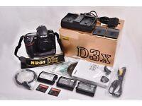 Nikon D3x Camera Body & Accessories (boxed)