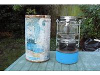 Gas camping lamp.