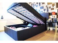 Brand New Double Ottoman Storage Bed with 10inch Original DQ Mattress in Jet Black or Coffee Brown