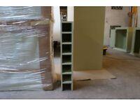 Wine/bottle rack 320/420mm -handmade - bespoke - solid wood - pine - oak - kitchen unit - BT-320/420