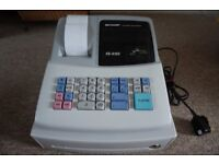 Sharp XE A102 Electronic Cash Register (boxed and with set up instructions)
