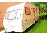 NOW SOLD, 4 Berth Caravan, Avondale Dart 515-4, 1998, with porch awning.