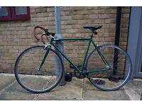 Quella Single speed Bike - Green - 54cms with Kryptonite bike lock / Helmet / pump / spare tubes