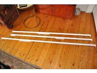 Curtain Tracks x 3, white aluminium, John Lewis