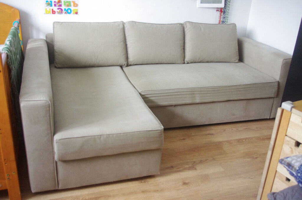 Ikea manstad corner sofa bed with storage in vauxhall for Ikea manstad sofa couch bett