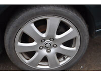 JAGUAR X-TYPE ALLOY WHEELS AND TYRES IN GOOD CONDITION