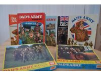 DAD'S ARMY: 2 JIGSAWS & 5 ANNUALS. VERY COLLECTABLE. GOOD CONDITION.