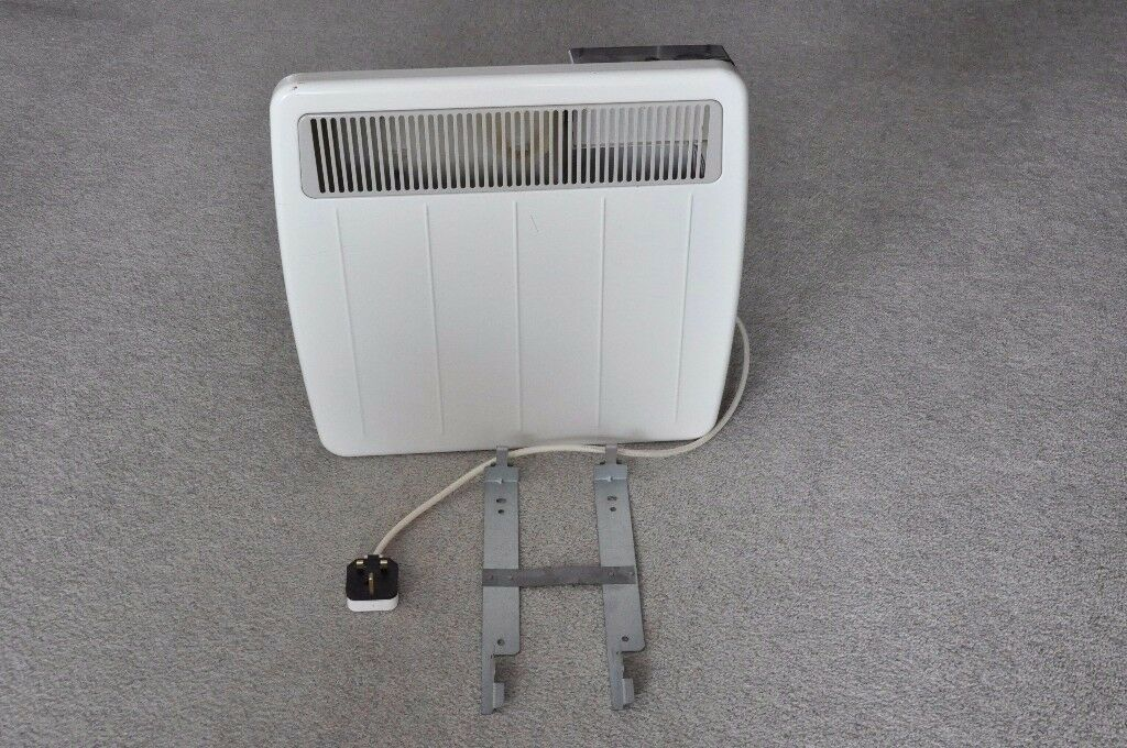 Dimplex Wall-mounted 500W Mains Electric Heater with Thermostat and Timeswitch - Good Working Order