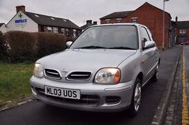 NISSAN MICRA 1.0 16V TEMPEST 3DR PETROL ( LOW MILEAGE, 4 NEW TYRES)