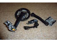 Shimano Tourney Bottom Crank & 7 speed Gears
