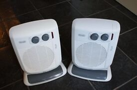 Pair of DeLonghi Verticale Oscillating 3kW heaters with thermostatic controls
