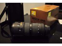 used nikon nikkor 80-200 f2.8 ED IF zoom lens Mint-
