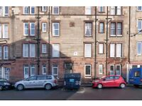 Superb 1 bedroom top floor flat with views of Arthur's Seat available January – NO FEES