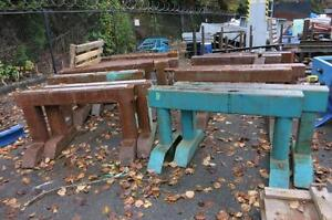 """Heavy Duty Steel Saw Horses 5' wide, 4"""" steel"""