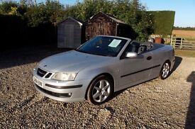 2004 (04 plate) saab 93 areo convertable turbo