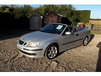 2004 (04 plate) saab 93 areo convertable turbo