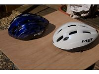 Two MET Bike Helmets