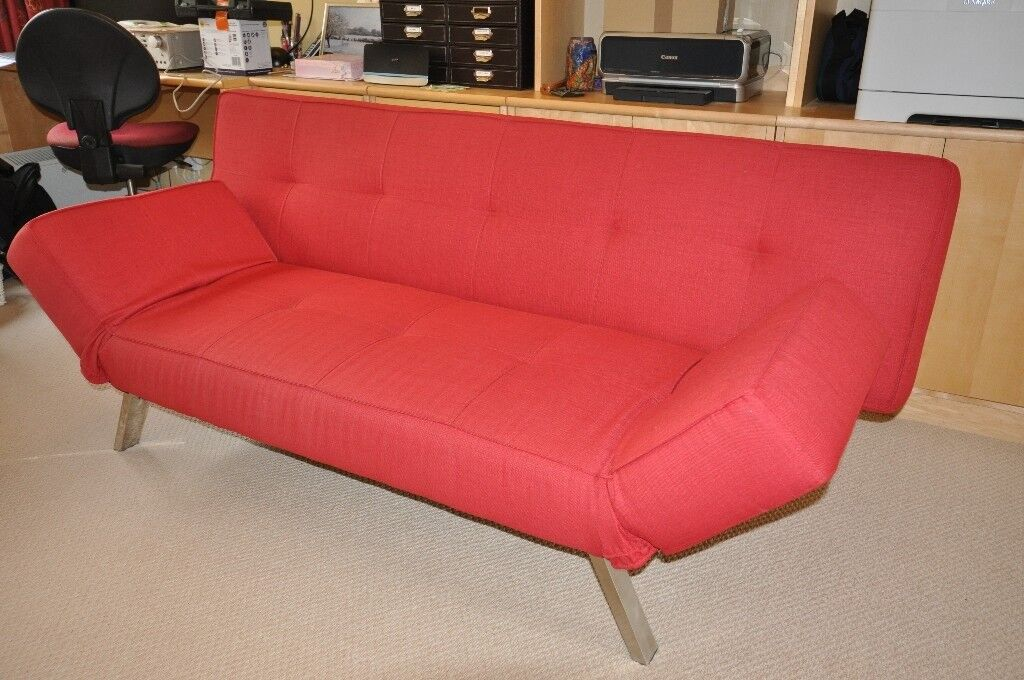 Cargo Red Salsa Click Clack Sofa Bed In Godalming