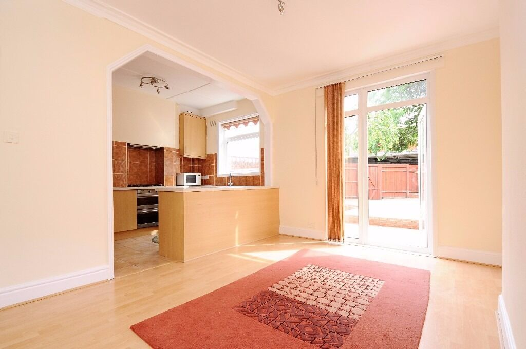 A spacious terrace house offering four bedrooms and a private garden, situated on Links Road.