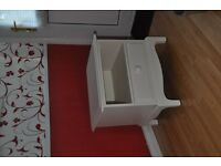 Bed side table, great condition, beautiful design, cream, £40 ono