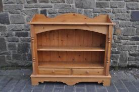 4ft solid pine farmhouse open shelf sideboard dresser bookcase