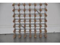 Wine Rack, 36 bottles, wood and metal
